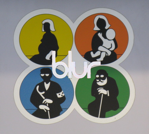Turkish Rail sticker merged with Blur Album